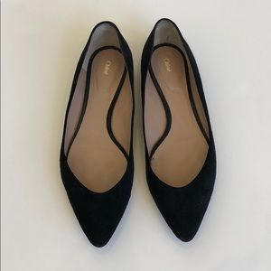 Chloe Black Suede Flats Size 39.5
